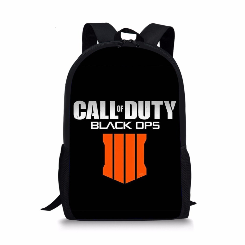 Call Of Duty Black OPS 4 Print school bag orthopedic backpacks kids schoolbag satchel for boys teenager students mochila escolar цена и фото