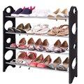 Homdox Zapatos Ajustable Soporte Del Sostenedor Del Organizador De Almacenamiento Tidy Rack Apilable 4-Tier Zapatero