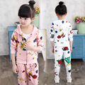 2016 Autumn Girl Suit Casual Kid Girl Clothing Set Children Hoodies+pants Twinset Kids Sports Suit Girl Clothing Sets Tracksuits