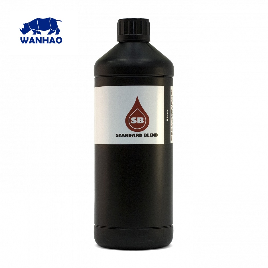 Wanhao photopolymer resin for D7 FunToDo Standard Blend 1kg BLACKWanhao photopolymer resin for D7 FunToDo Standard Blend 1kg BLACK