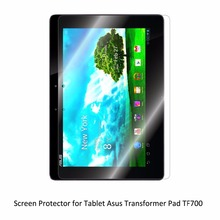 Clear LCD PET Movie Anti-Scratch/ Anti-Bubble / Contact Responsive Display screen Protector for Pill Asus Transformer Pad TF700