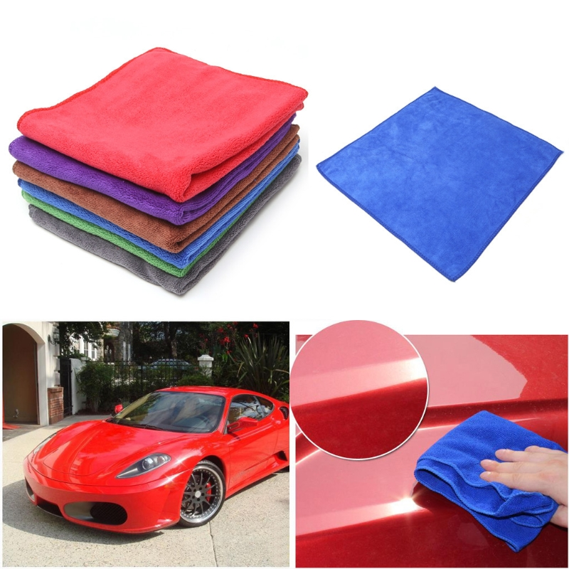 1Pc 40x40cm Microfiber Car Detailing Towel Ultra Soft Edgeless Towel For Car Washing Drop shipping