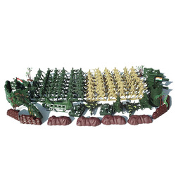 Militaire 80 personnes nostalgique vert plastique WWII soldat 6 cm militaire modèle kit 108 pièces/ensemble de jouet pour enfants livraison gratuite