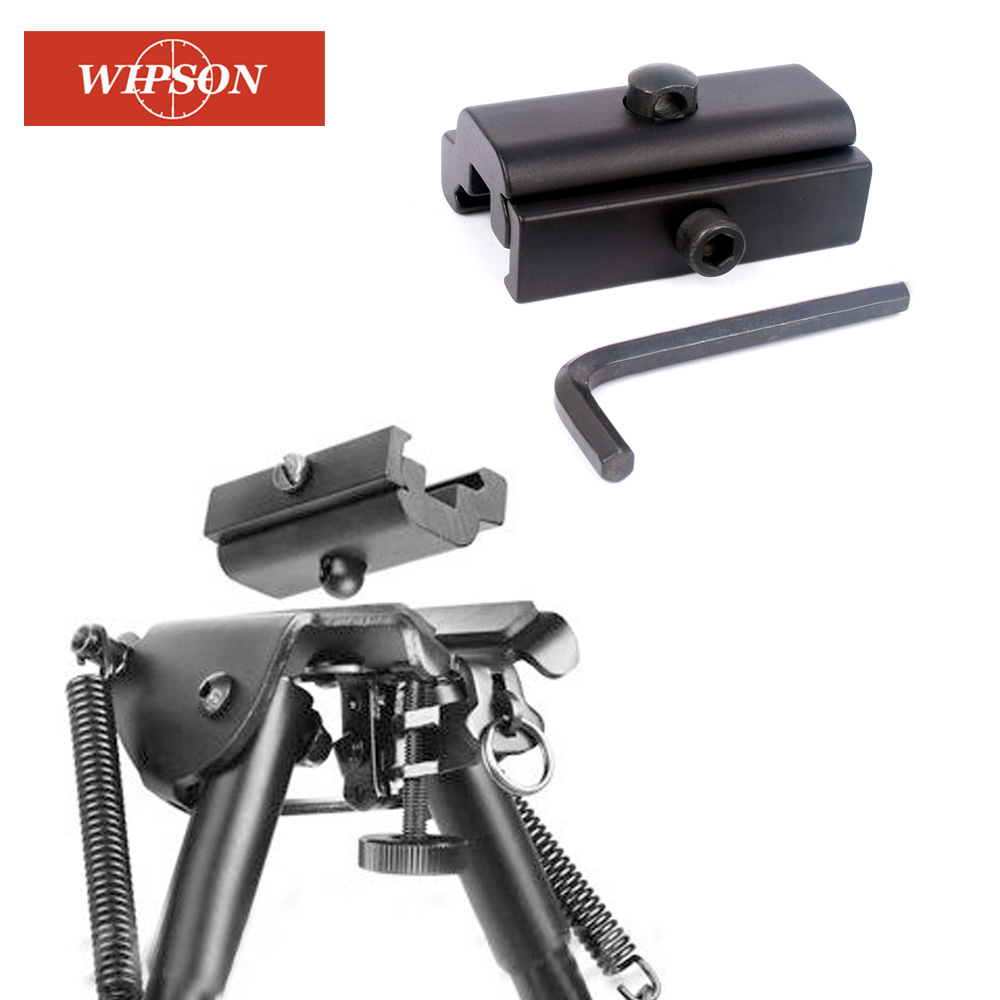 WIPSON Sling Swivel Adapter Quick Detach Rifle Bipod Swivel Mount For Hunting Weaver Harris Rail Mount Adopter Military Rifle To