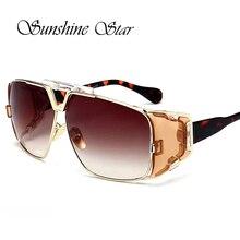Pop Marca de Edad Espejo Cuadrado Gafas de Sol de Gran Tamaño gafas de Sol de Las Mujeres de Los Hombres Flat Top Celebrity Gafas de sol de Alta Calidad Gafas