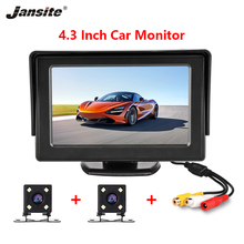 купить Car Monitor 4.3 Screen For Rear View Reverse Camera TFT LCD Display HD Digital Color PAL/NTSC Double Lens Reversal Priority дешево
