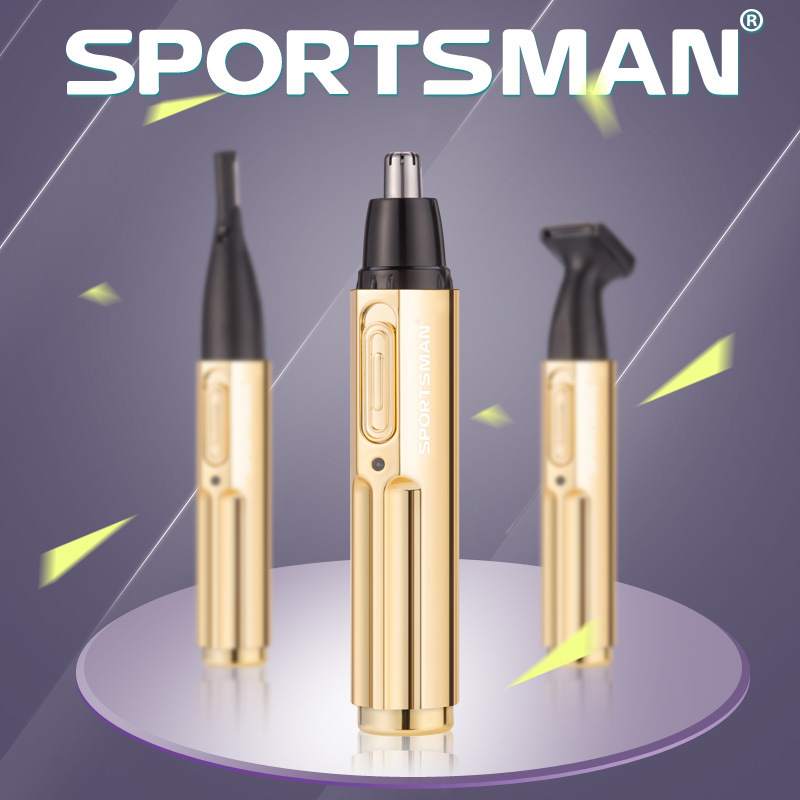 New Metal Electric Nose Trimmer Multifunction Rechargeable 3 in1 Automatic Eyebrow Trim Trimer For Men tondeuse nez oreilles
