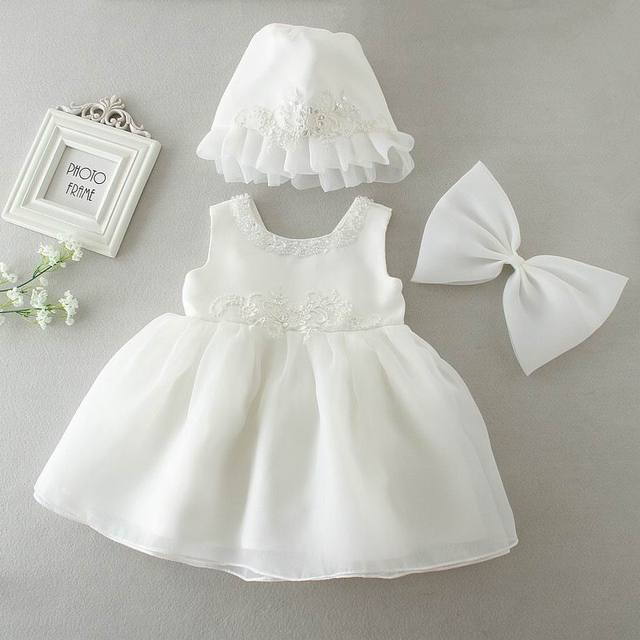 6c2c71c9e2bb Retail Summer Flower Baby Girls Wedding Dresses Lace Christening ...