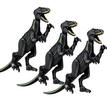лучшая цена Jurassic World Park Tyrannosaurus Indominus Rex Indoraptor Building Blocks Dinosaur Figures Bricks Toys Compatible with