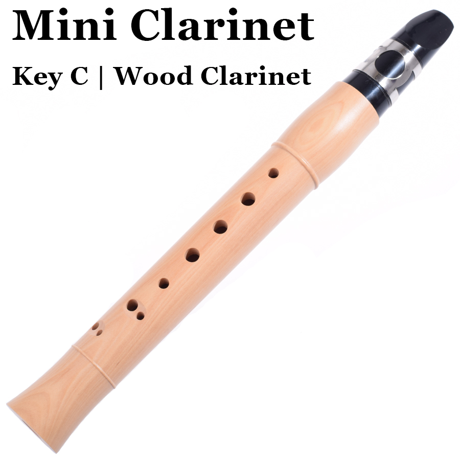 Pocket Clarinet Wood Wind Musical Instrument Mini Clarinete Beginners Maple C key Flute Simple Klarinette With