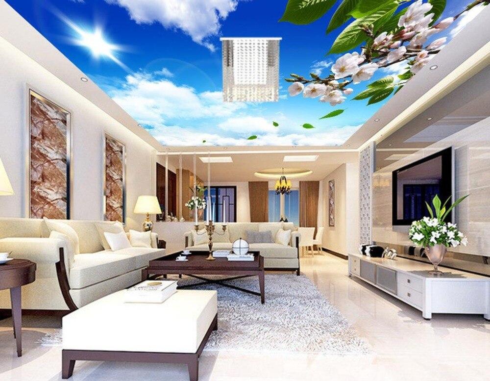 Custom 3d Photo Wallpaper 3d Wall Murals Wallpaper Hd: 3d Wall Murals Wallpaper Orchid Cloud Ceiling Custom 3d
