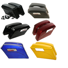 Motorcycle Hard Saddle bags Saddlebag Trunk +Lid Latch Keys For Harley Road King Touring Ultra Street Glide 1994-2013