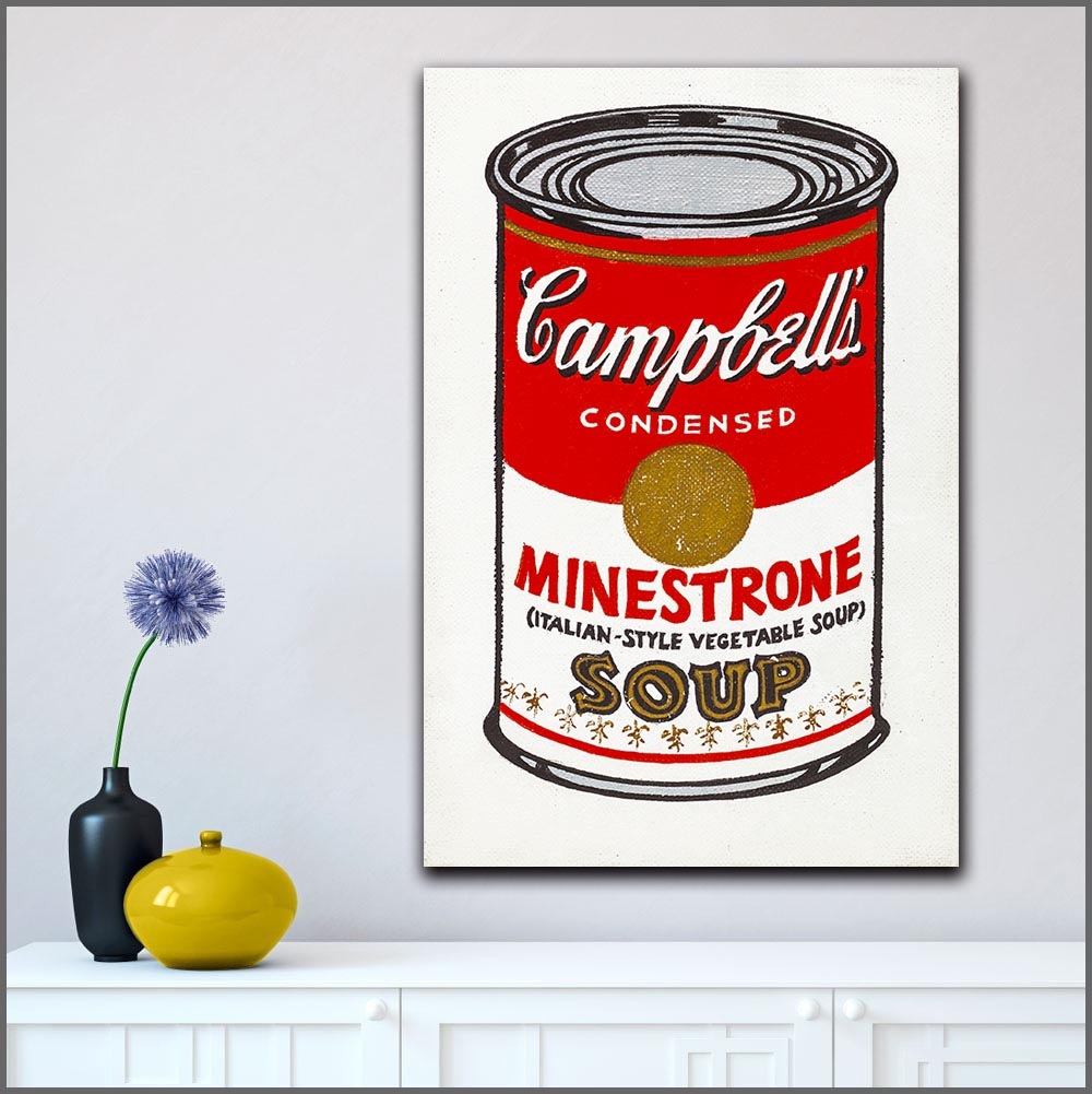 Print Andy Warhol Little Campbell's Soup Can (Minestrone), 1962 Home Decor Living Room Modern Canvas Print No Frame Paintings image