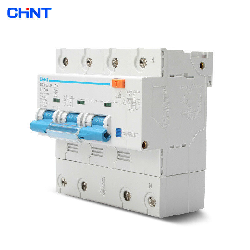 CHNT DZ158LE 3P+N 100A High - Power Home With Leakage Circuit Breaker Air Switch gift n home
