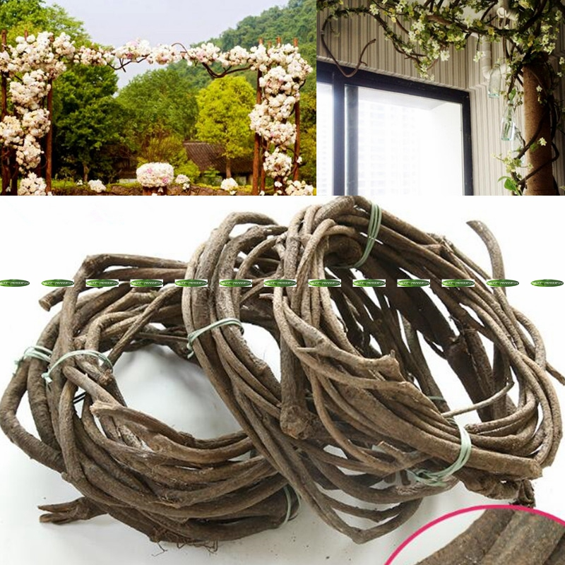 7-9 Meter Natural Dry Wedding Christmas Home Office Furniture Decoration Grapes Foliage Plant Tree Vine Branch Black F5274