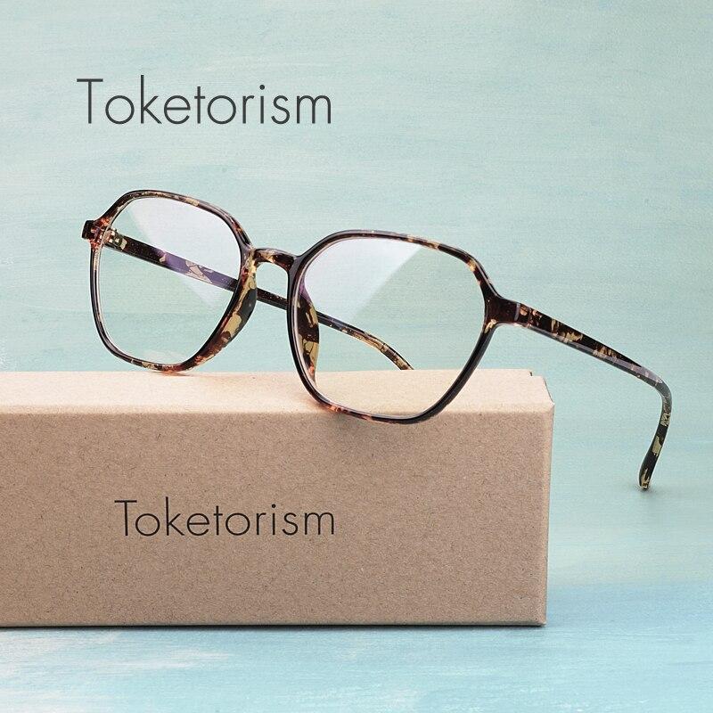 866881dfc647 Toketorism designer polygon glasses frame clear lens eyeglasses women  optical accessories 9042