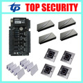 ZK teco C3-400 4 doors access control system access control panel with 4pcs KR100E RFID card reader, 4pcs infrared exit button