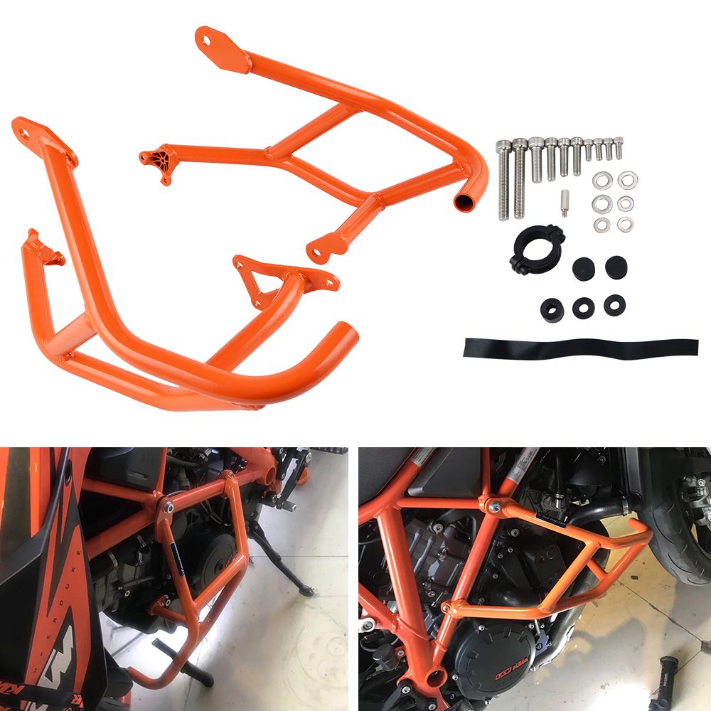 NICECNC Engine Frame Bumper Protector Crash Bar Hoop Guard For KTM 1290 Super Duke R GT