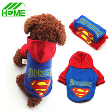 Купить с кэшбэком Pet Dog Clothes Superman Coat Hoodies Clothing Puppy Chihuahua Small Pets Dogs Winter Cloth Coats Costumes Roupas Para Mascotas