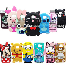 3D Cute Cartoon Animal Minnie Stitch Starbucks Winnie Judy Cat Soft Silicone Back Cover For Samsung Galaxy S6 Phone Cases Fundas