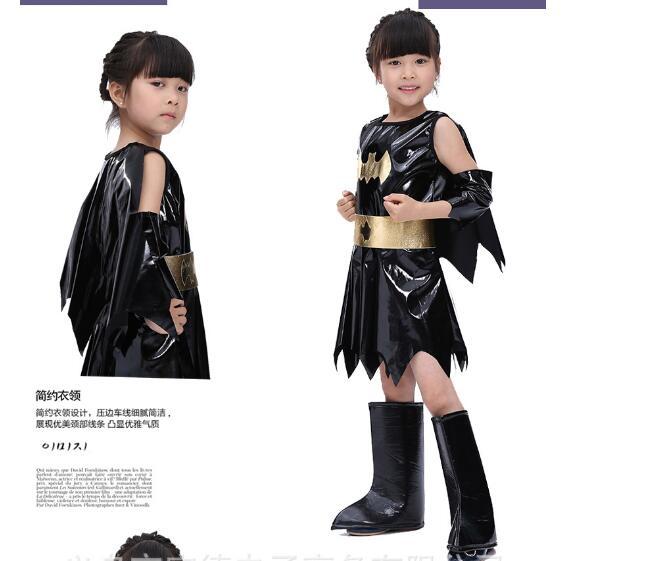 Halloween Animal Cosplay Cute Bat Costume Kids Black Jumpsuit Batman Cosplay Costumes for Girls