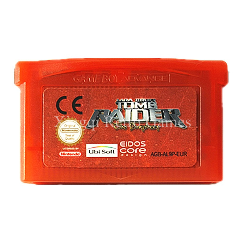 Nintendo GBA Game Tomb Raider Video Game Cartridge Console Card ENG/FRA/DEU/ESP/ITA Language