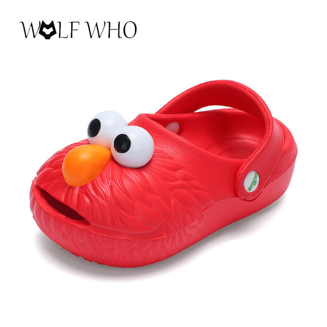 86ae8bbca4 US $6.3 29% OFF|Shoes kids mules clogs summer boys girls flat sandals  cartoon Beach Croc Fit charms/Flip Flops Slippers hollow children shoes-in  Mules ...