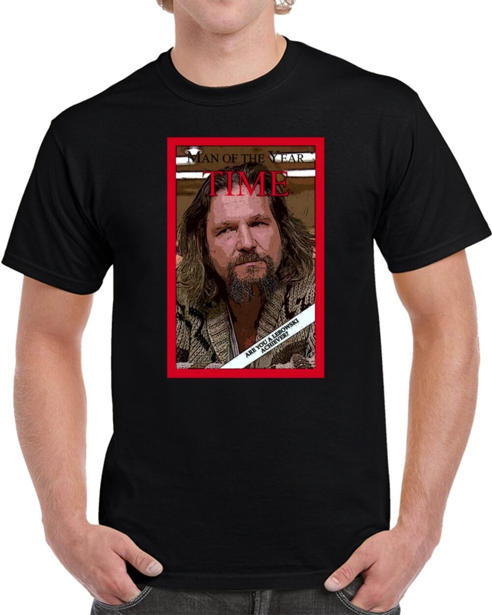 The Big Lebowski The Dude Man of The Year Parody Movie Fan T Shirt New T-Shirt Men Fashion T Shirts Top Tee Plus Size Harajuku image