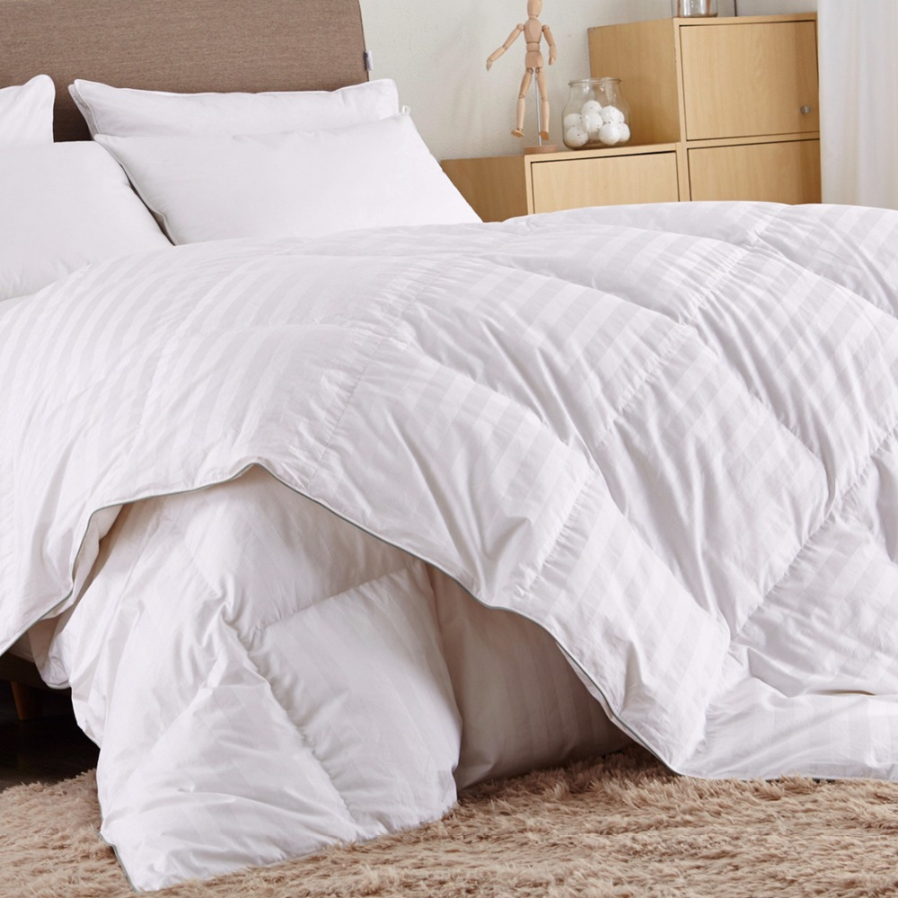 Puredown T500 Winter Comforter Queen King Size Duck Quilted 100 Cotton Fill
