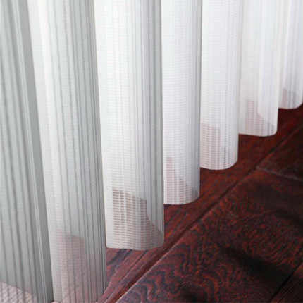 Manual /electric vertical blinds U shape white sheer shades curtain customize size