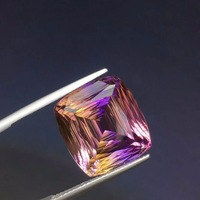 Brazil natural Ametrine,Superb cutting and dazzling colors,Weight: 16ct Specifications: 16.5 x 15.3 x 10.2mm
