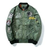 Pilot Jacket Air Force Flight Jacket U S Air Force Fly Flight Jacket Embroidery Spring Autumn
