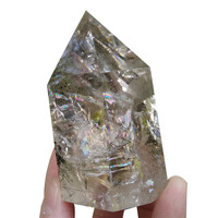 Rutilated Crystal Point Stones Ghost Crystals Wicca Cristal Islande Pierre Naturelle Cristaux Healing Home Decoration Stone