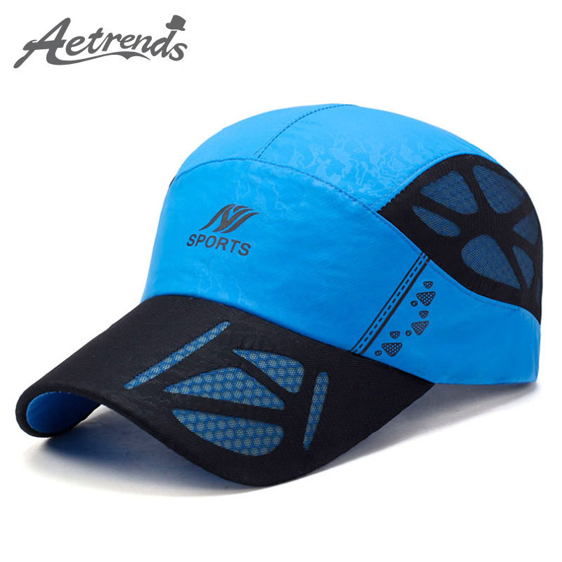 [AETRENDS] 2017 Summer Baseball Cap Men Breathable Quick-Drying Mesh Hats Women Sunshade Caps Z-5075
