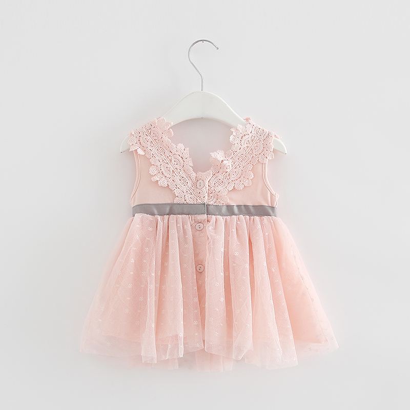 Retail-2017-summer-newborn-V-neck-bow-lace-princess-infant-dress-baby-girls-dress-Honey-Baby-clothes-ball-gown-3-color-1