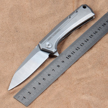 D2 mes model 0808 zakmes EDC kogellager pocket flipper Fruit knife