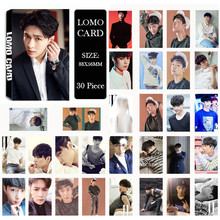 Youpop KPOP EXO LAY For Life EXACT Album LOMO Cards K-POP New Fashion Self Made Paper Photo Card HD Photocard LK408(China)