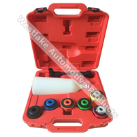 8PCS Oil Funnel Tool Universal Oil Filling System Set With Adaptors 2 Liter Oil Funnel Nylon