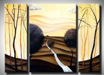 Hand Painted Oil Painting My Home In The Distance-Modern Oil Painting On Canvas Art Wall Decor-Landscape Oil Painting Wall Art
