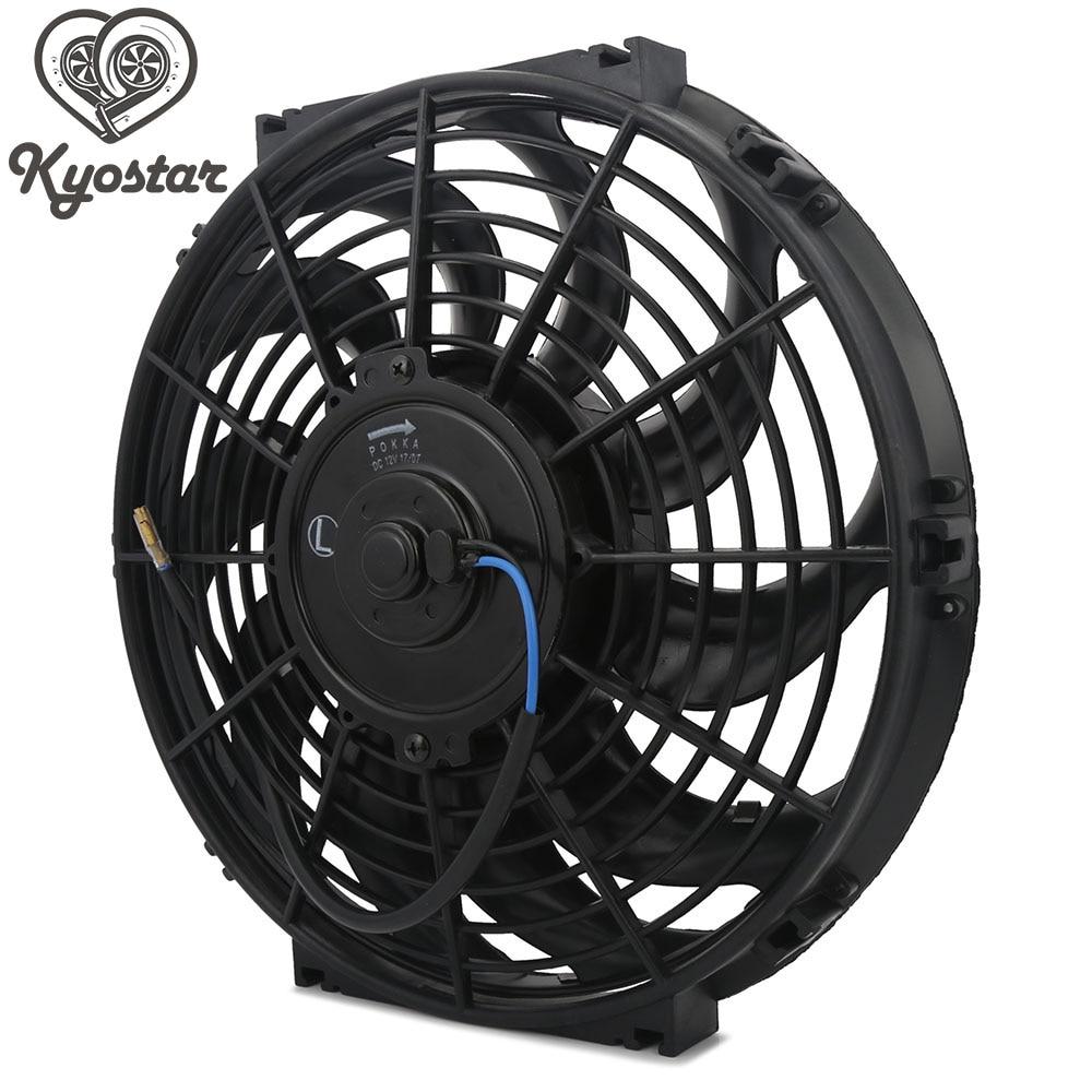 "2 PCS 10/"" Universal Pull Push Racing Electric Radiator Engine Cooling Fan"