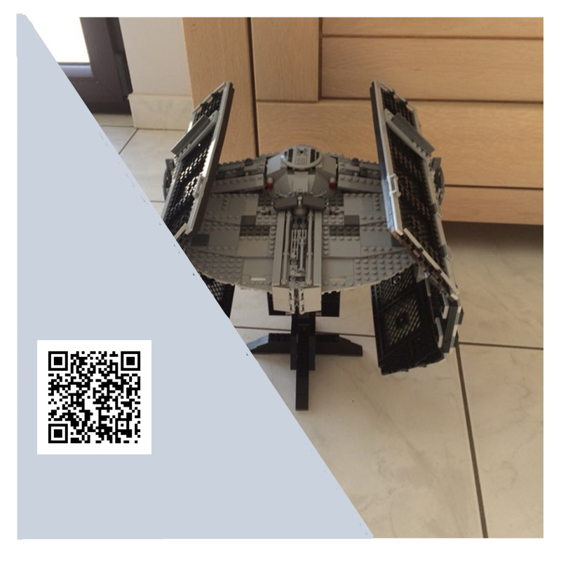 H&HXY 05055 Star 1242PCS Series Wars The Rogue One USC Vader TIE Advanced Fighter Set lepin Building Block Brick Educational Toy dhl lepin 05055 star series military war the rogue one usc vader tie advanced fighter compatible 10175 building bricks block toy