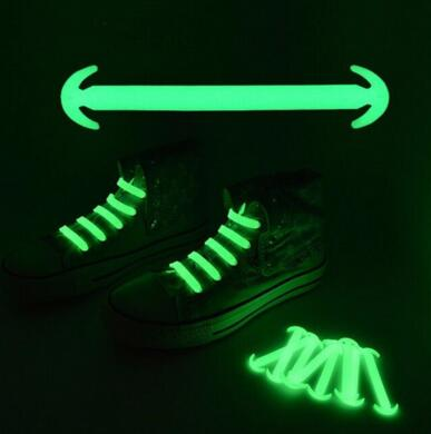 New Silicone Unisex Elastic No Tie Shoes Lace Sport Sneakers Luminous Strap Lacet Chaussure Ox Horn Shoes Lace 14 Pcs/lot