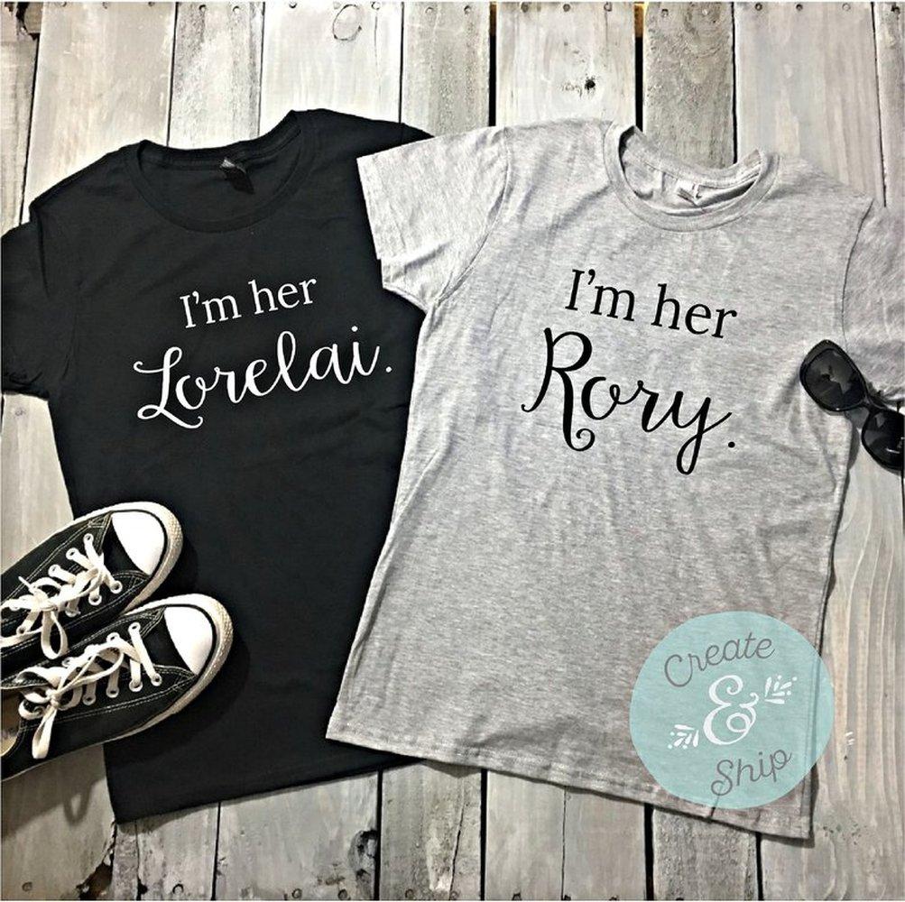 Lorelai e Rory Camisas A Lorelai Gilmore Girls Shirt EU sou EU sou A Rory Melhor Camisa Amigo BFF Camisas as melhores amigas Irmãs Tee