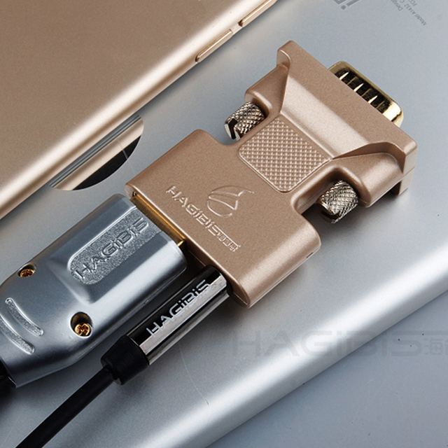 Hagibis HDMI to VGA Cable HD 1080P 3.5mm Audio Port Adapter Cable for Laptop Macbook and Video Converter Alloy Play and Plug Computer Cables & Connectors
