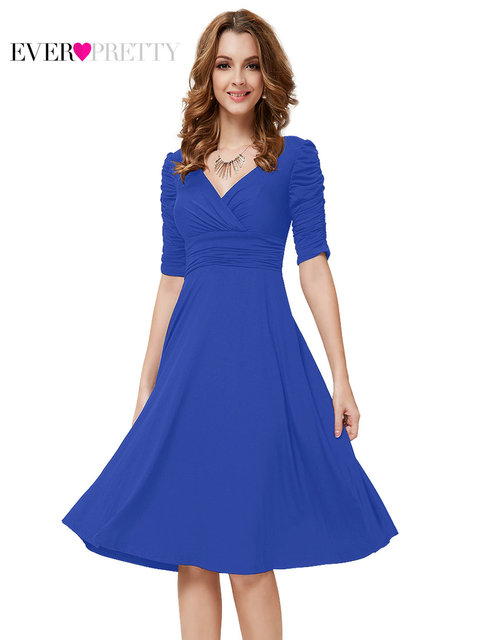 Cocktail Dresses Ever Pretty Short Formal Dresses V-Neck Half Sleeve  Stretched Plus Size Prom ee0c05c36a22
