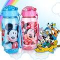 Biberones PP Ecológico Niño Bickiepegs tazas de bebé de dibujos animados bebé niños botella de agua de Paja Botella hervidor de botella de los deportes Del Niño