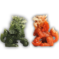 Set of Two Feng Shui Wealth Prosperity Pi Xiu/Pi Yao Statue Car Dashboard Decoration, Attract Wealth and Good Luck