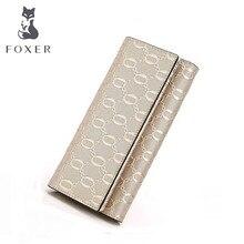 FOXER бренд Для женщин кожаный бумажник Женская Мода Повседневное cluth кошелек Роскошный кошелек и кошелек Женские Кошельки для Для женщин