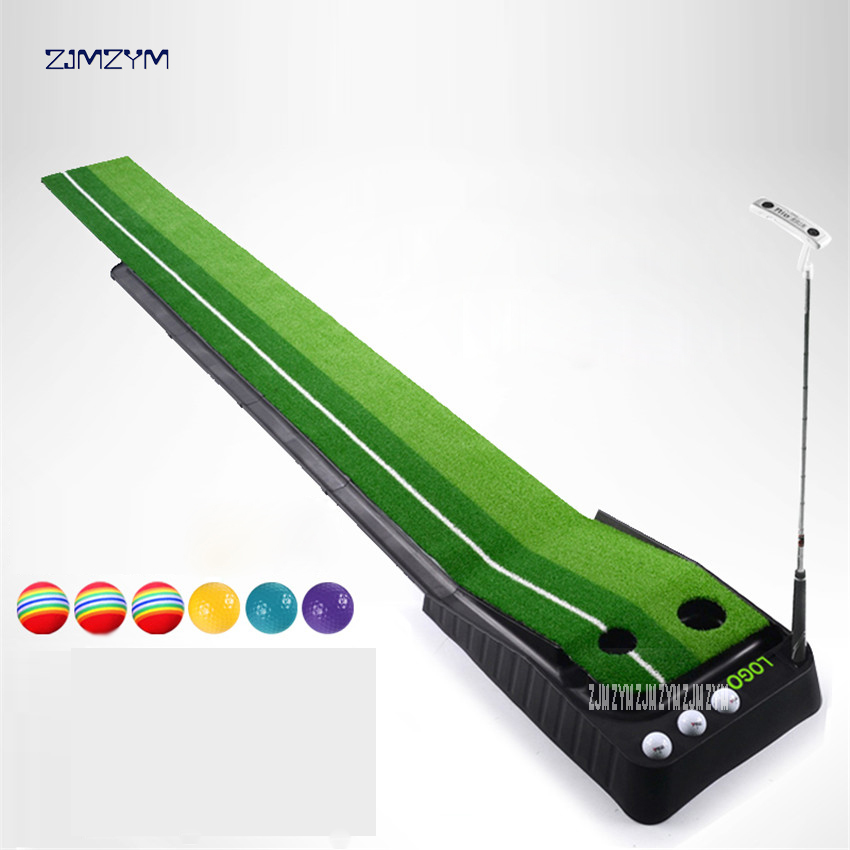 Indoor Golf Putting Practice Equipment Multi-fairway Monochrome Swing Trainer Training Blanket Golf Ball Retriever Plastic 3M