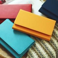 Portfel Moda Pure Color Portable Czasopisma Książki 95 Arkusze DIY Pamiętnik Notebook Prezent Granatowy Żółty Czerwony Niebieski